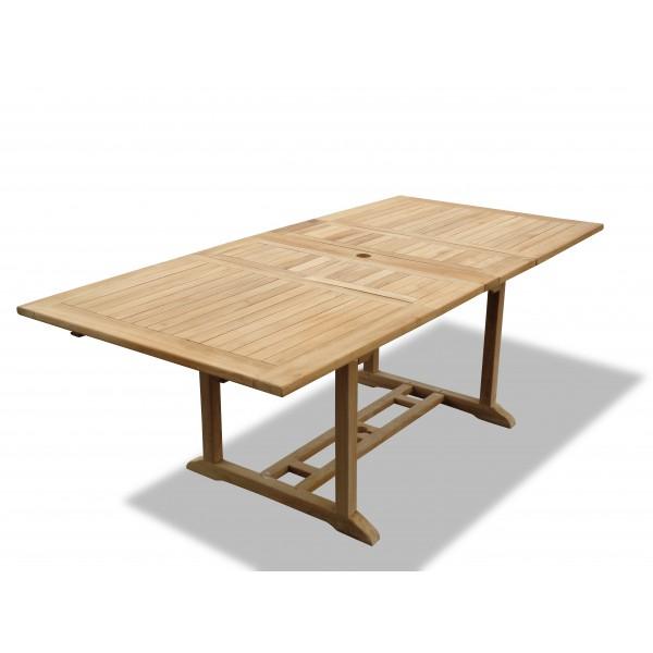 "Buckingham 82"" x 39"" Double Leaf Rectangular Teak Extension Table...Seats 10...makes 3 Different Size Tables"