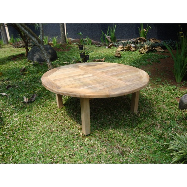 "Hyannis Port Round 40"" Teak Coffee Table"