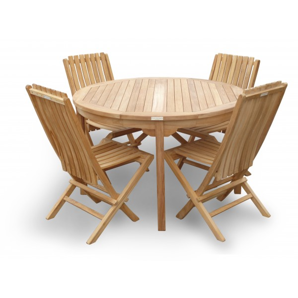 """Cannes 47"""" Round Teak Dining Table"""
