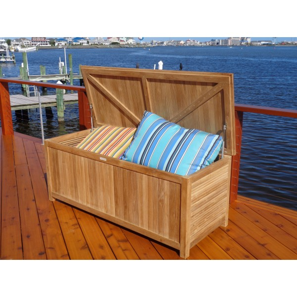 "Nantucket Teak Dock Box / Storage Chest 59"" x 24"""