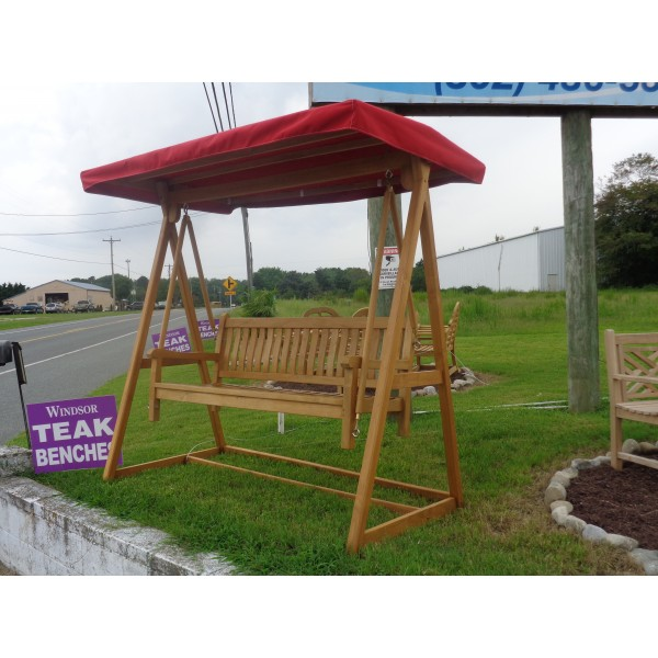 Windsor 3 Seater Bench Swing Set....Includes Bench, A-Frame, & Canopy w Sunbrella Cover