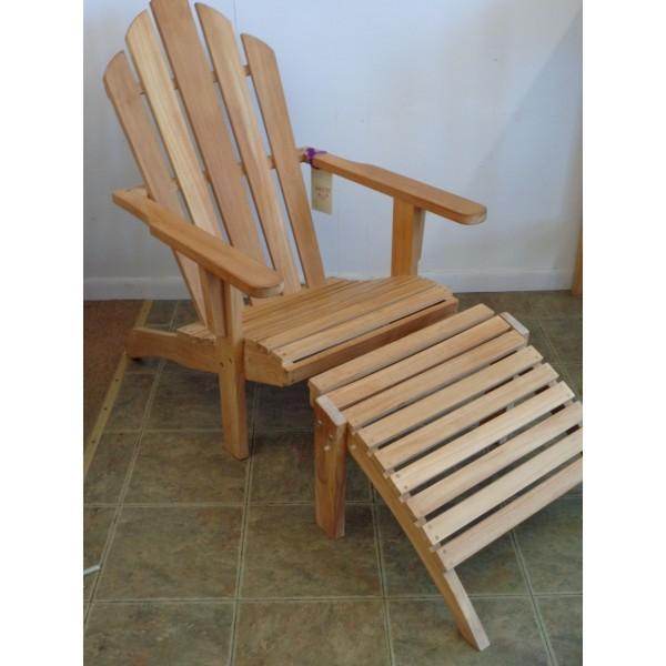 Windsor's Premium Grade A Teak Classic Adirondack Chair w Ottoman