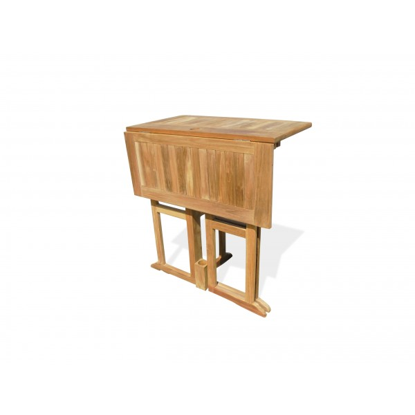 """Nassau 35"""" Square Drop Leaf Folding Bar Table ...use with 1 Leaf Up or 2.... Makes 2 different tables!"""