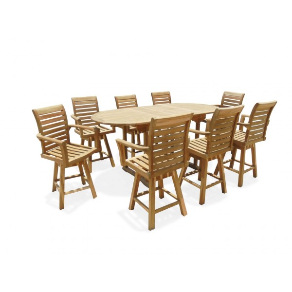 """Bimini Counter Height 82"""" x 39"""" Double Leaf Oval Extension Table...Seats 8...makes 3 Different Size Tables"""