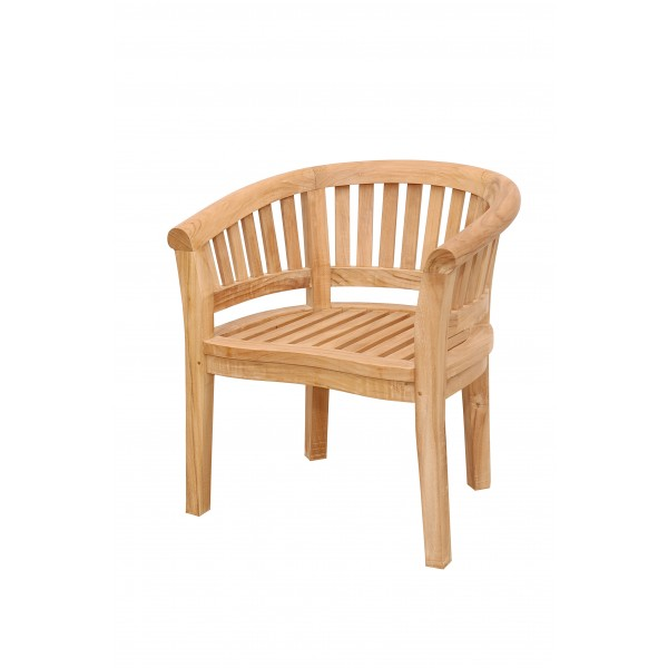 Kensington Teak Curved Armchair