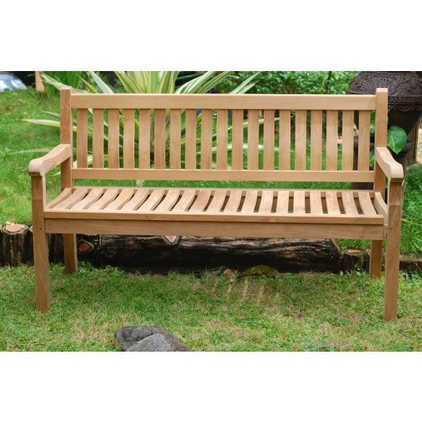 "59"" Windsor Teak Bench 3 Seater"