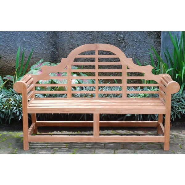 The Classic Lutyens Grade A Teak 3 Seater Teak Bench