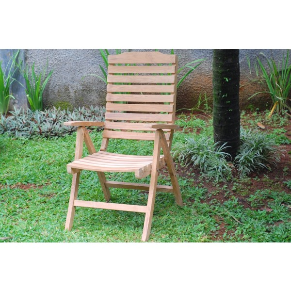 Chelsea 5 Position Reclining Teak Folding Armchair