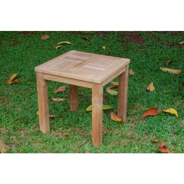 "Cape Cod Square 20"" Side Teak Table"