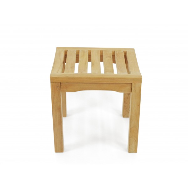 "18"" Oxford Teak Backless Bench w/Contoured Seat"