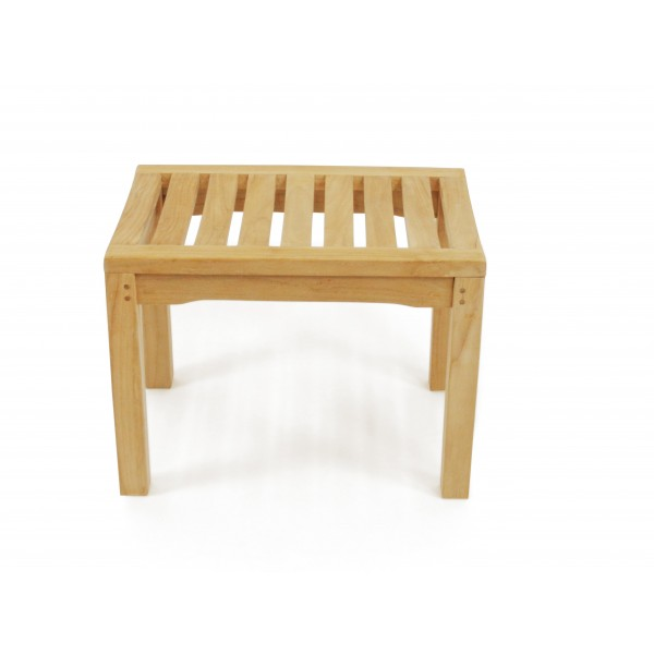 "24"" Oxford Teak Backless Bench w/Contoured Seat"