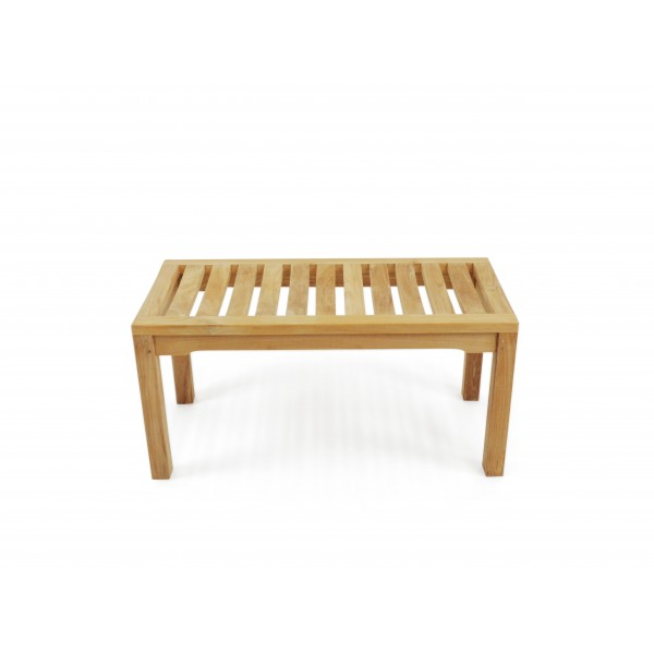 "36"" Oxford Teak Backless Bench w/Contoured Seat"