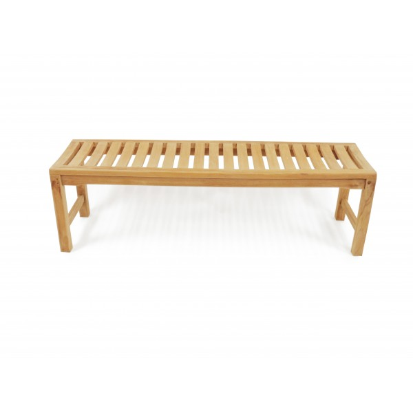 "59"" Oxford Teak Backless Bench 3 Seater w/Contoured Seat"