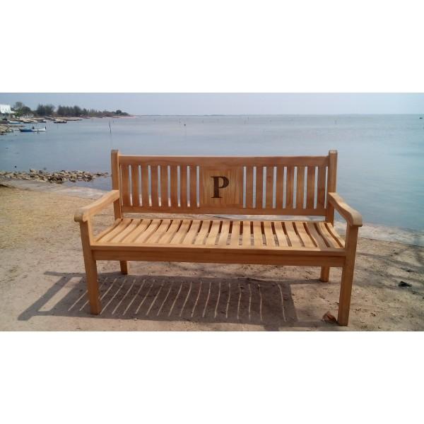 Windsor's Custom Personalized Teak Bench-3 Seater
