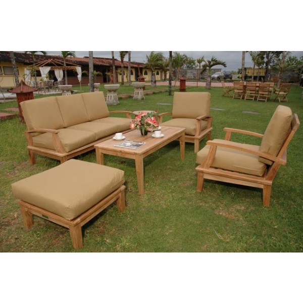 Portofino Deep Seating 6 Pc Sofa Set w Sunbrella Cushions