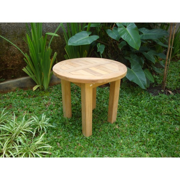 "Hyannis Port Round 20"" Teak Side Table"