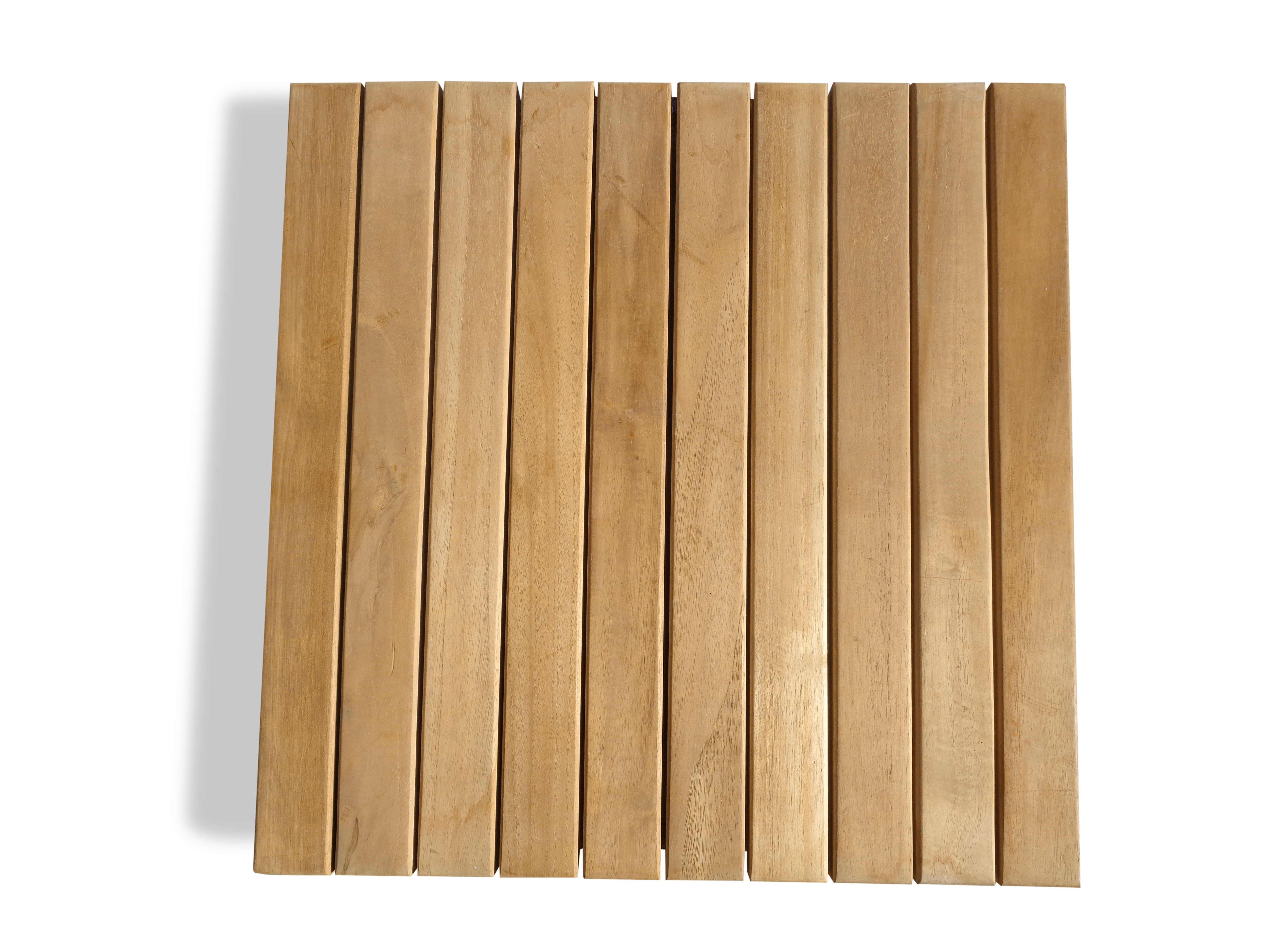 "Pack of 5 Teak Floor Tiles Indoor/Outdoors.. 19.75"" Square ..11 lbs ea...Perfect for Decks, Saunas, Showers, Yards, etc"